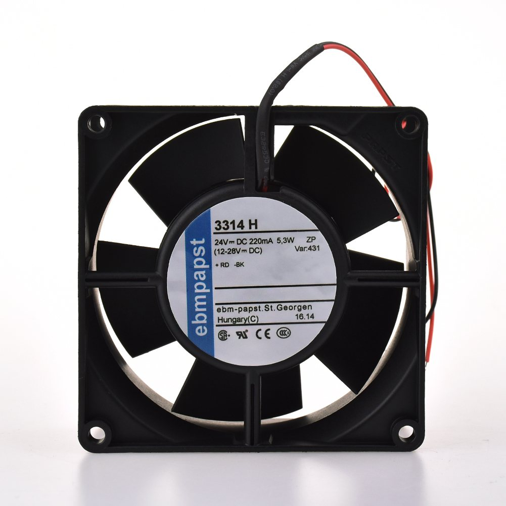 ebmpapst 3314H 24V 5.3W 220MA  Ball bearing axial fan