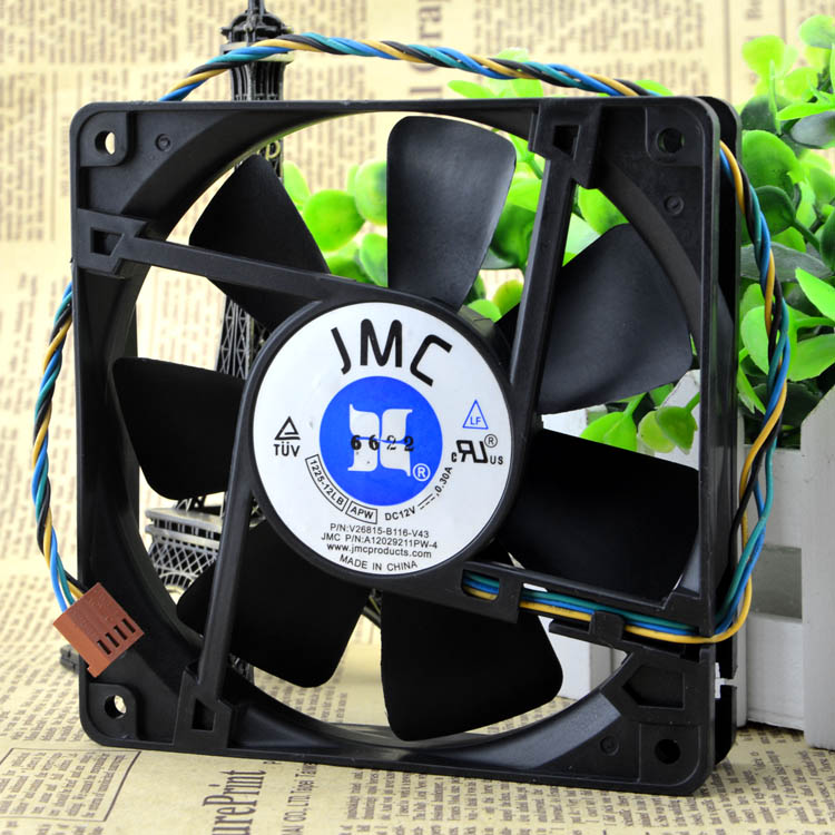 JMC 1225-12LB DC12V 0.30A V26815-B116-V43 A12029211PW-4  server cooling fan