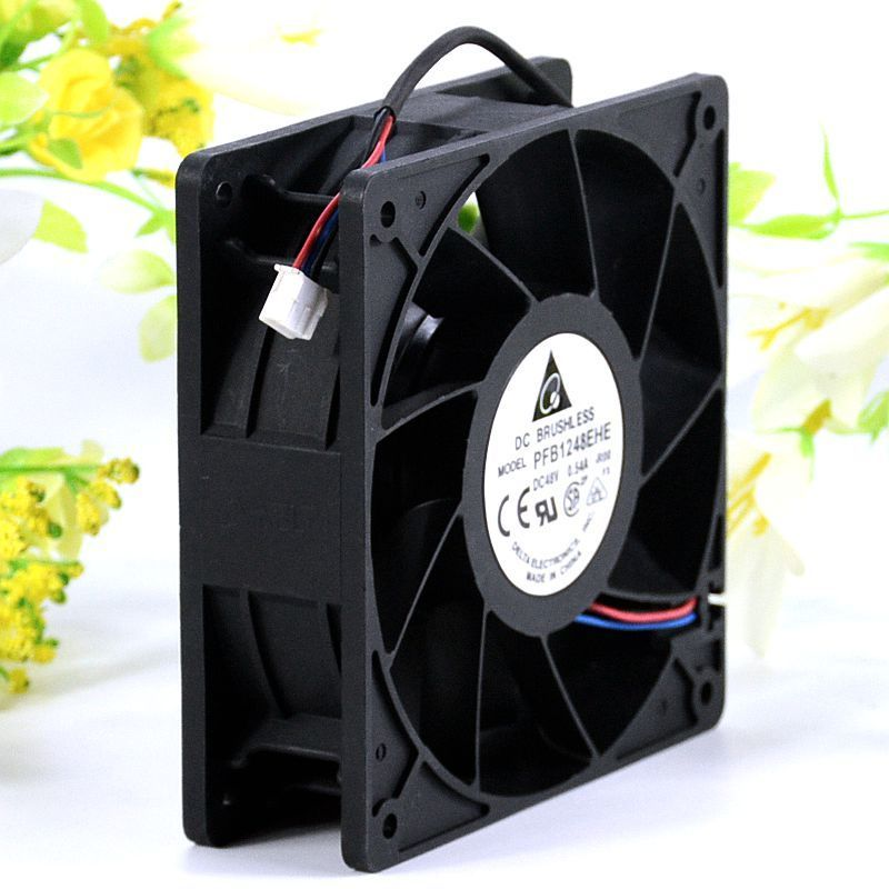 Delta PFB1248EHE DC 48V 0.54A Two Ball Bearing Converter Stall Alarm Cooling Fan