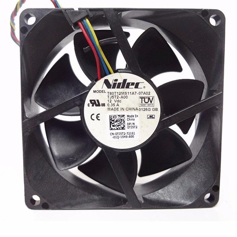 NIDEC T80T12MS11A7 -07A02 DC12V 0.35A PWM Axial Cooling Fan