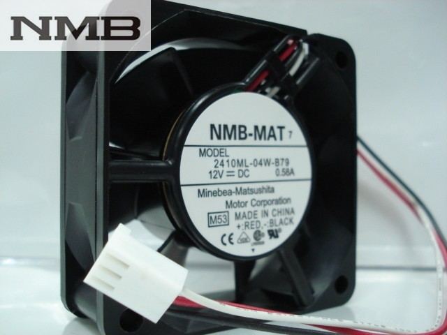 NMB 2410ML-04W-B79 -F62 6cm DC12V 0.58A 3Wire server inverter Cooling fan