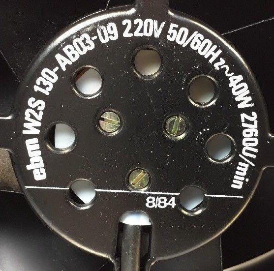 Ebm W2S130-AB03-09 2V 50/60Hz 40W 2760U/min. 4E cooling fan