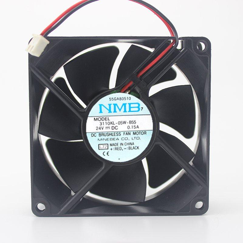 3110KL-05W-B55 24V 0.15A 8CM 8025 4-wire inverter fan