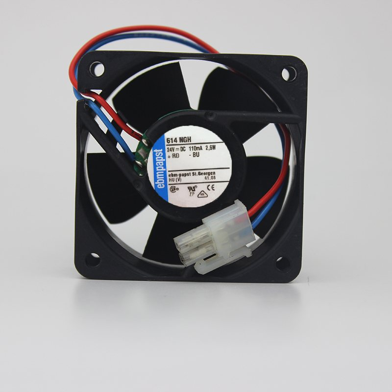 ebmpapst 614 NGH DC24V 0.11A 2.6W inverter server cooling fan