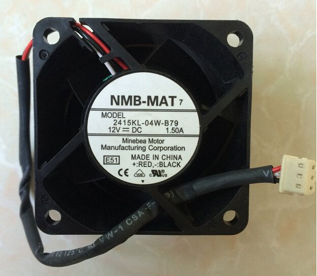 NMB 2415KL-04W-B79 12V 1.50A 6CM 60*60*38mm three wire speed and air cooling fan