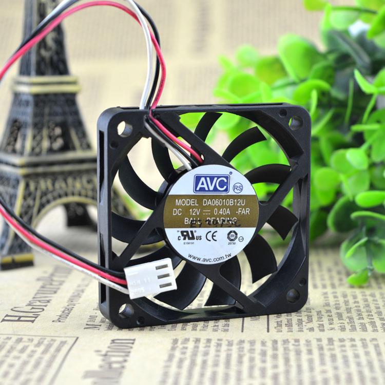 AVC DA06010B12U DC12V 0.40A 6CM 3-wires dual ball bearing cooling fan