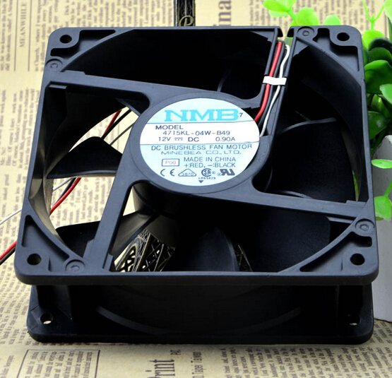 NMB 4715KL-04W-B49 120*120*38 12cm 12V0.9A 3pin dual ball big air fan
