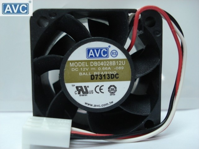 AVC DB04028B12U DC12V 0.66A double ball bearing server inverter cooling fan