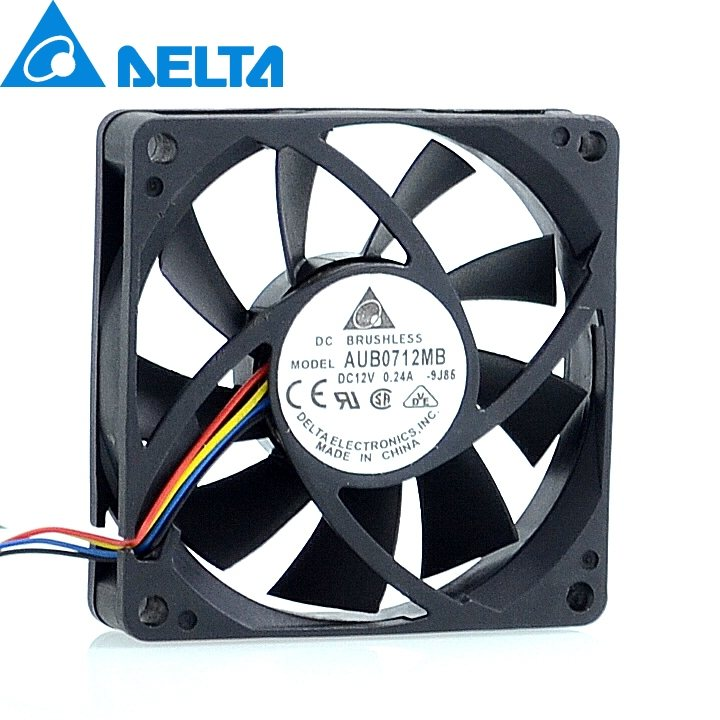 Delta AUB0712MB 12V 0.24A 7cm 4-pin PWM CPU cooling fan