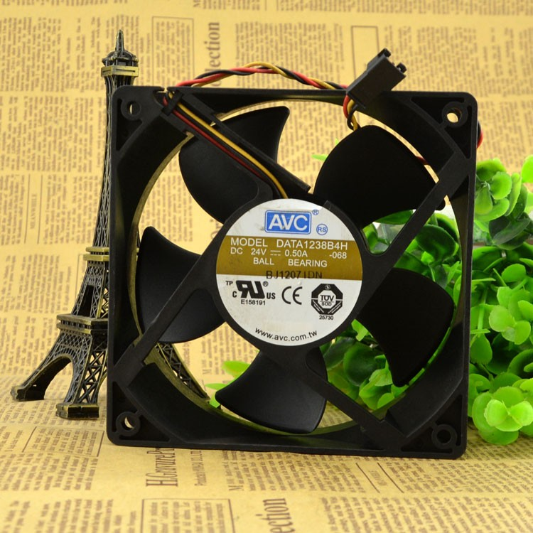 AVC DATA1238B4H 24V 0.50A 12CM cooling fan