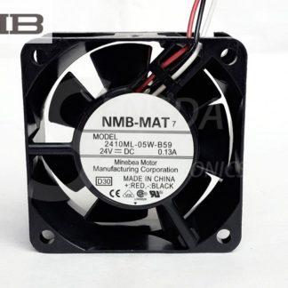 NMB 2410ML-05W-B59 DC24V 0.13A 60mm server inverter axial fan