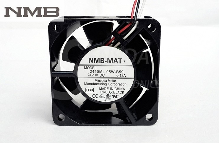 NMB 2410ML-05W-B59 DC24V 0.13A 60mm server inverter axial fan