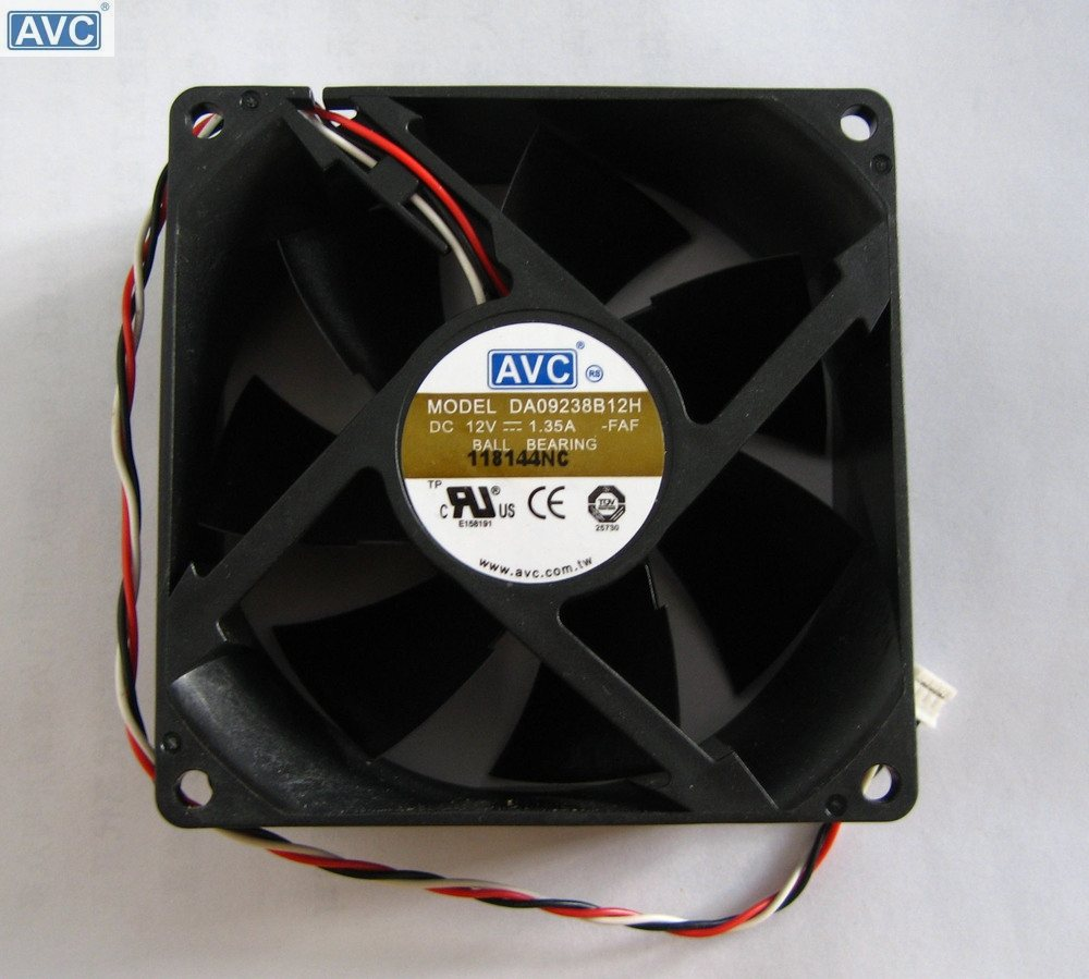 AVC DA09238B12H  DC12V 1.35A Dual Ball Bearing Server Cooling Fan