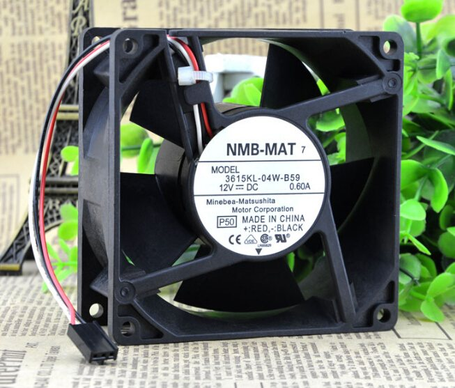 NMB 3615KL-04W-B59 12V 0.60A three line need large amount of wind fan
