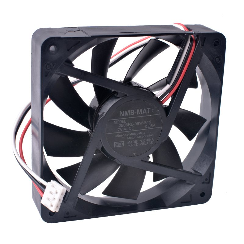 NMB 2806RL-09W-B19 70x70x15mm 5V 7V  Double ball bearing  cooling fan