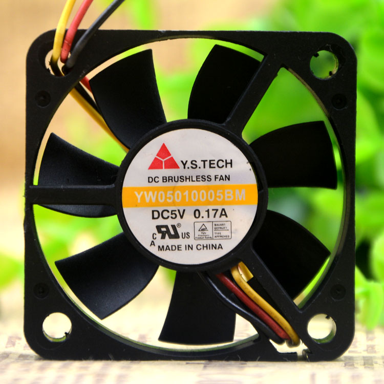 Y.S.TECH YW05010005BM 5V 0.17A 5CM  3-wire cooling fan