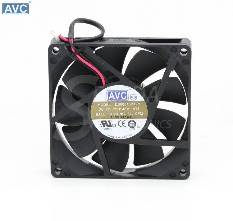 AVC DS0815B12M DC12V 0.48A server inverter cooling fan
