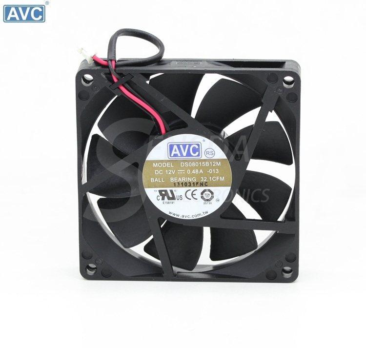 AVC DS0815B12M DC12V 0.48A server inverter cooling fan