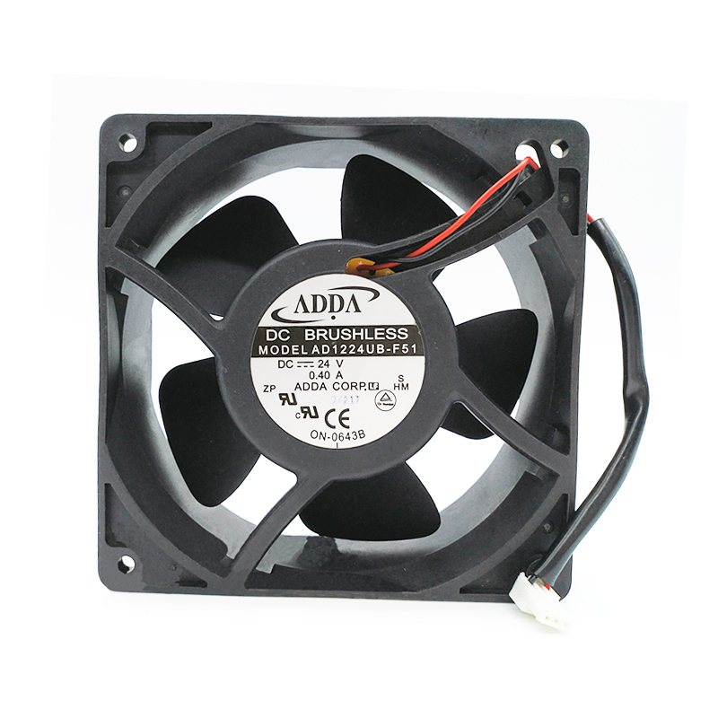 ADDA AD1224UB-F51 DC24V 0.40A server inverter Axial flow cooling fan