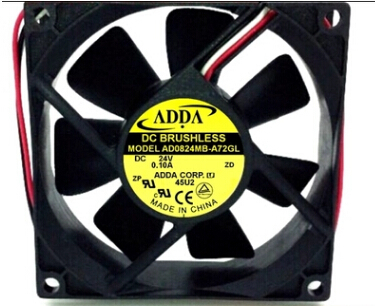 ADDA AD0824MB-A72GL 24V 0.10A 8CM 3line dual ball inverter fan