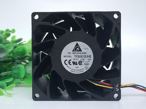 Delta TFB0812UHE DC12V 2.34A 4-line PWM Temperature Control Server Heat Dissipation Cooling Fan