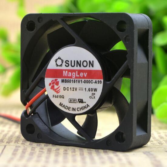 SUNON MB50151V1-000C-A99 5CM 1.60W  DC 12V 2-wire cooling fan