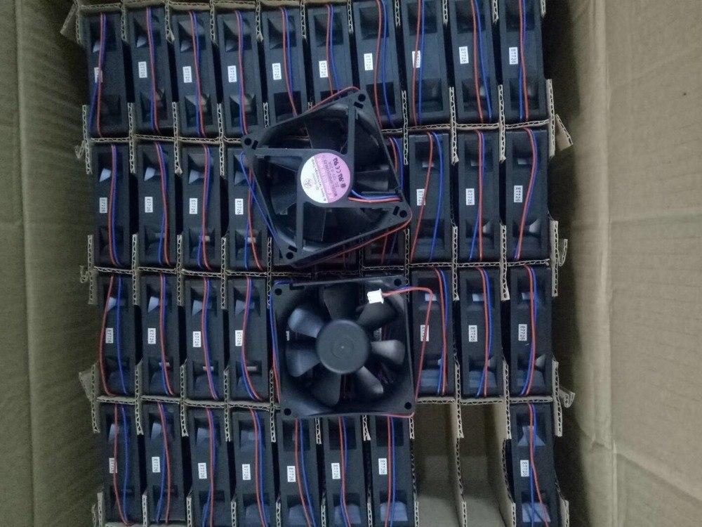 BI-SONIC SP802512M-03 DC 12V 0.20A 2-Wire Server Round Fan
