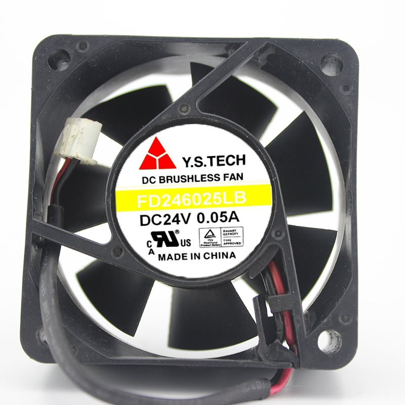Y.S.TECH FD246025LB  6cm 24V 0.05A inverter cooling fan