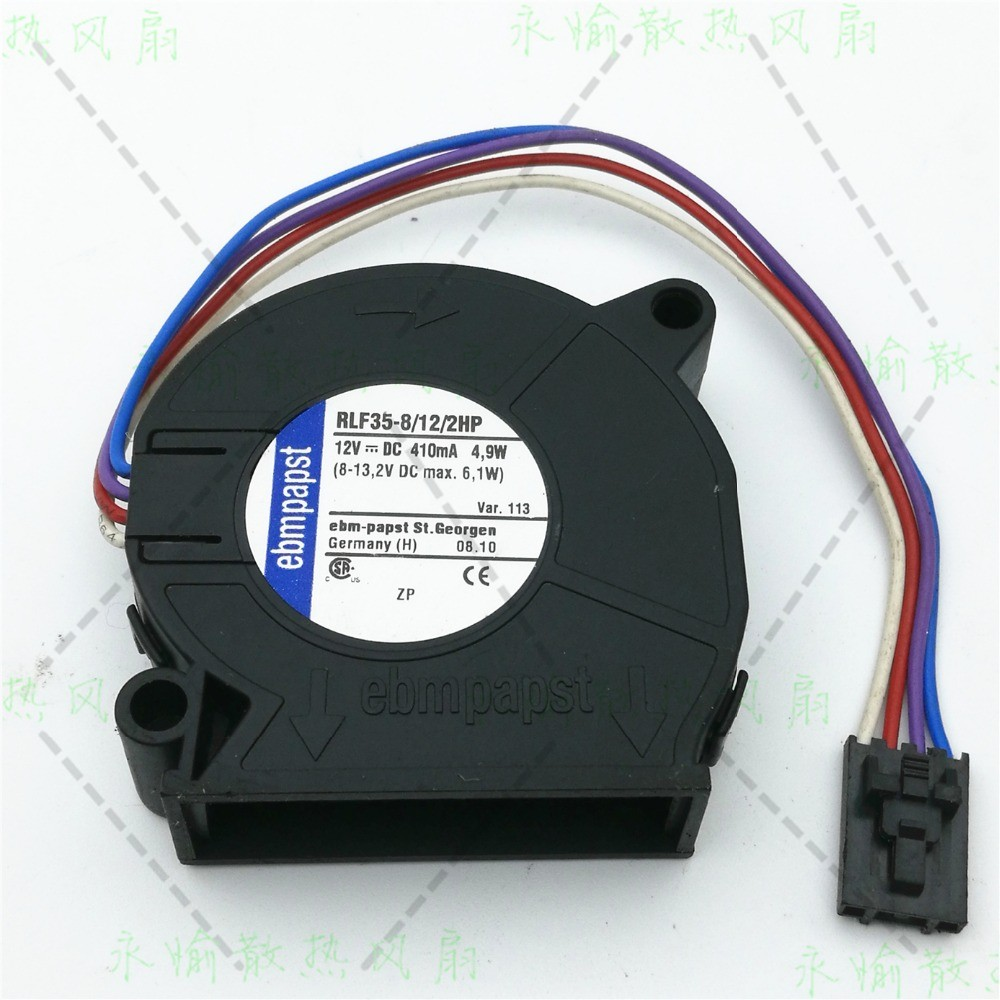 Ebm-papst RLF35-8/12/2HP RLF35-8 12 2HP DC 12V 410mA 4.9W 50X50X15mm Server Blower fan