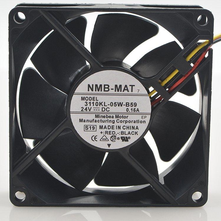 NMB  3110KL-05W-B59 8cm 24V 0.15A 8cm 3-wire Inverter Fan