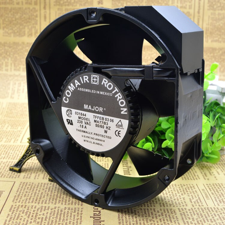 COMAIR ROTRON MA77B3 230VAC 0.18A 172MMX50MM Aluminum Frame AC Cooling Fan