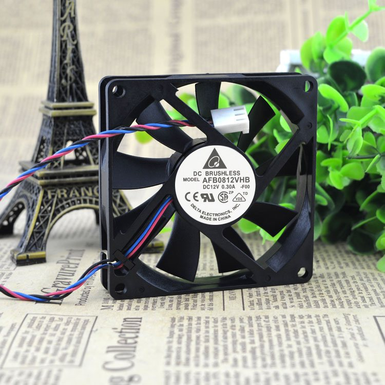 Delta AFB0812VHB 8cm DC12V 0.30A Double Ball Bearing Cpu Computer Case Cooling Fan