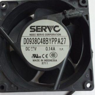 SERVO D0938C48BYPPA27 DC 48V 0.14A Server Cooling Fan