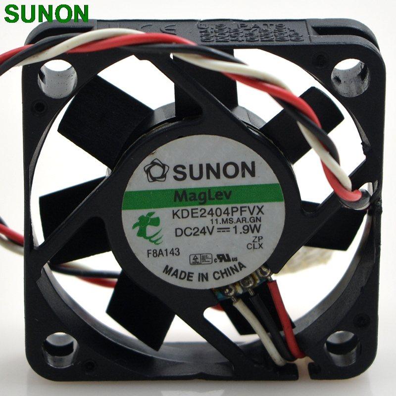 SUNON KDE2404PFVX 1.9W 4cm 3-wire  inverter cooling fan