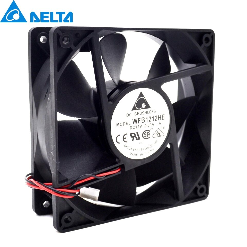 Delta WFB1212HE 12V 0.6A 7.2W double ball bearing cooling fan