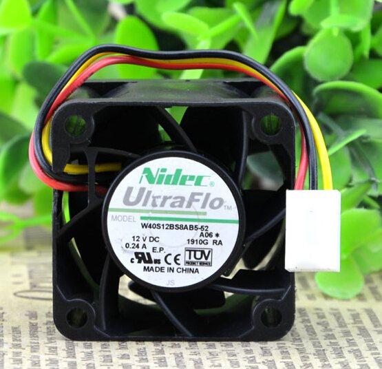 NIDEC W40S12BS8AB5-52 4CM 12V 0.24A cooling fan
