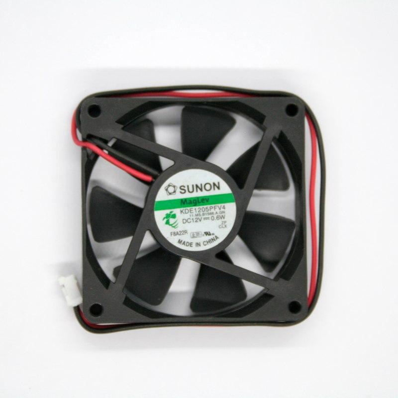 SUNON KDE15PFV4 DC 12V 0.6W 5CM 2-wire Silent Cooling Fan