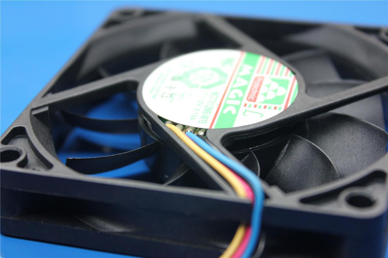 Magic MGT7012MB 7CM 12V 0.13A hydraulic four-wire PWM  fan