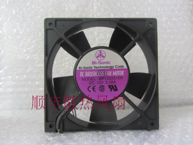 Bi-Sonic  BP12512H 12V 0.38A Double Ball Switch Fan