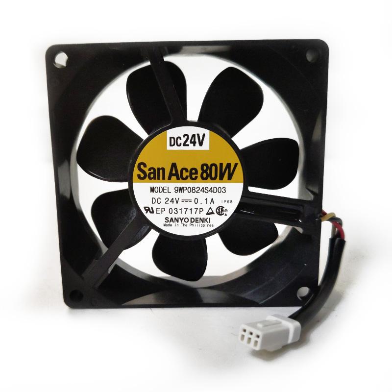 Sanyo 9WP0824S4D03 8CM DC24V 0.1A cooling fan