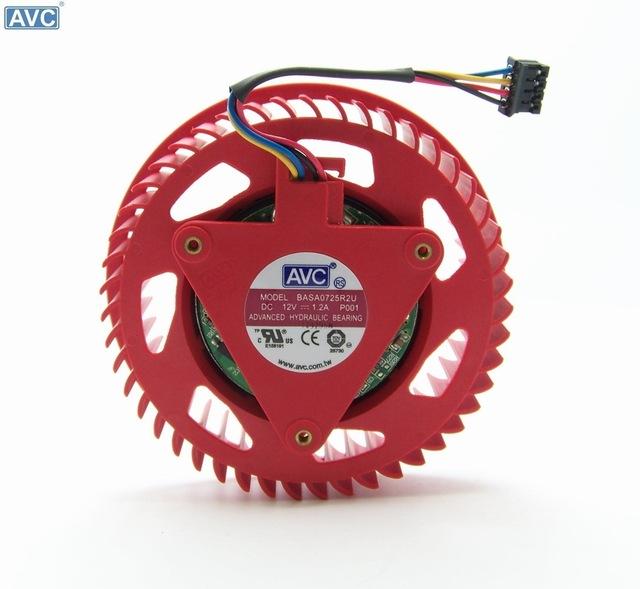AVC BASA0725R2U P001 DC12V 1.2A cooling fan