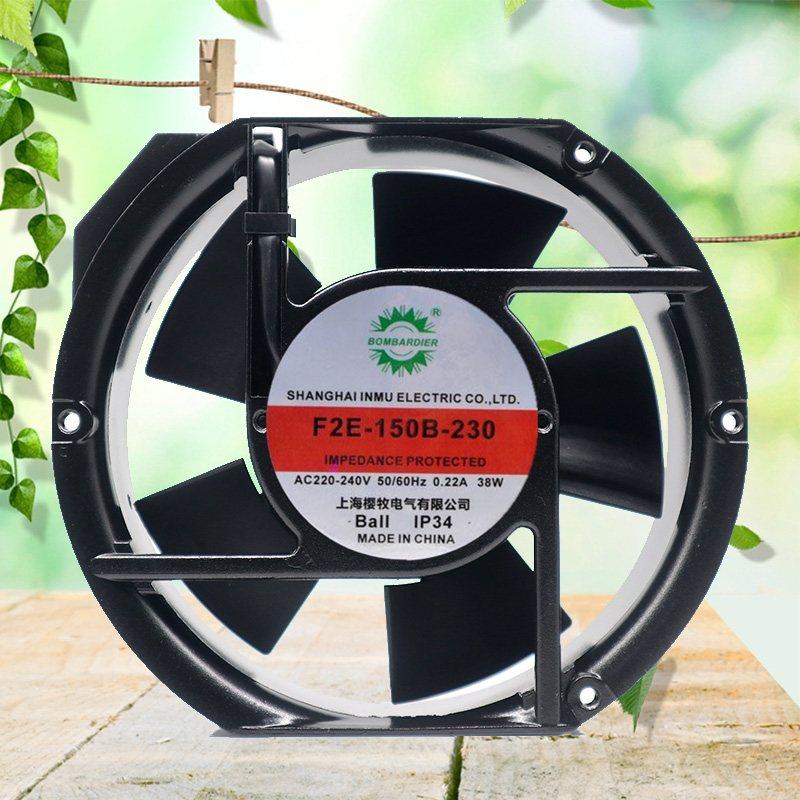 F2E-150B-230 AC220-240V 0.22A 38W 17CM 2600RPM Axial Cooling Fan
