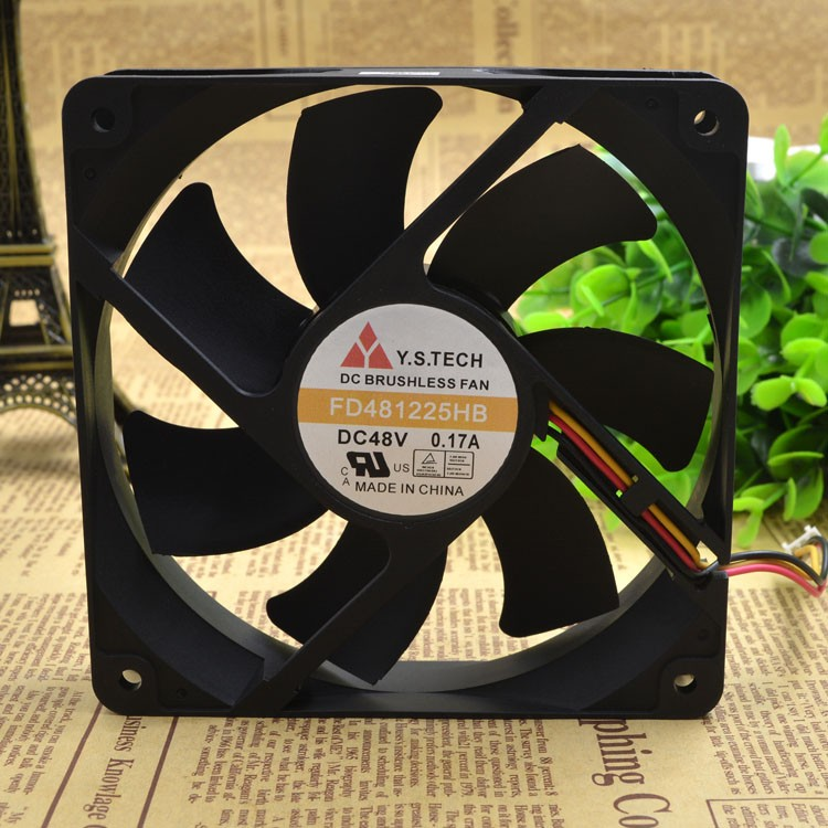Y.S.TECH  FD481225HB 48V 0.17A 12CM cooling fan