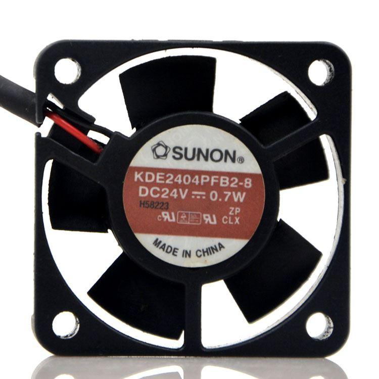 Sunon KDE2404PFB2-8 DC24V 0.7W 2-Wires Cooling Axial Fan