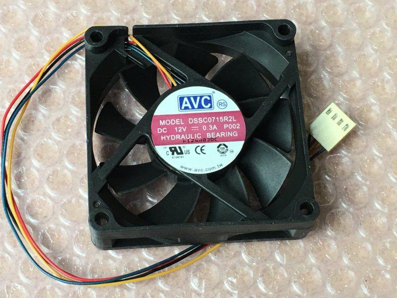 AVC DSSC0715R2L P002 DC12V 0.3A Server Square Cooling fan