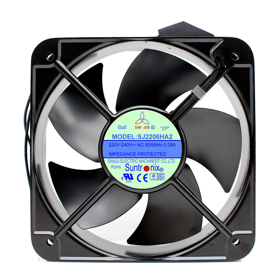 Suntronix SANJUN SJ2206HA2 220V 0.28A metal Axial cooling fan