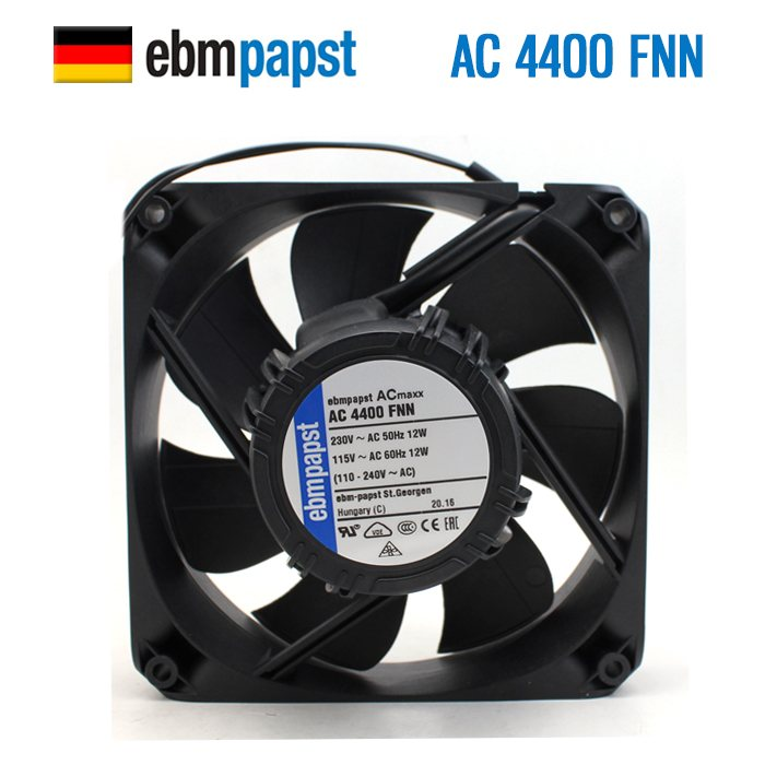 ebm papst AC4400FNN AC 4400 FNN AC 230V 115V 12W 1x1x25mm Server Square fan