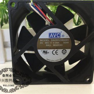 AVC DA08025B48H 48V 0.09A Double ball server cooling fan