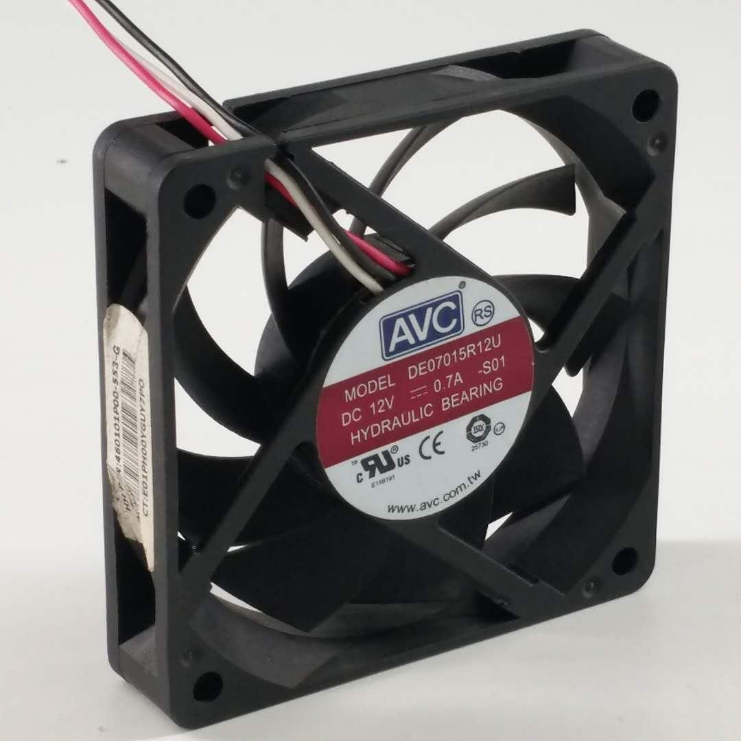 AVC DE07015R12U DC 12V 0.7A 7CM 70*70*15mm 4 Wires Cooling Fan
