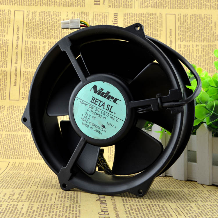 Nidec BKV 301 216/77 D17L-24PS3 02 170 * 170 * 50mm 17cm 170mm DC 24V 1.40A cooling fan